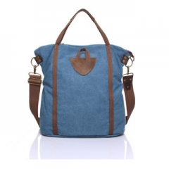 Travel & Shopping Bags Women causal big handbags tote fashion for men and women canvas bag Blue one size