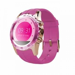 "Smart Watches KW08 With Android IOS System 1.22"" Support SIM Card Heart Rate Bluetooth Smartwatch Pink glod"
