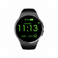 Smart Watches phone KW18 1.3 inch IPS LCD 240X240 Bluetooth 4.0 Anti-lost alert Remote camera Black