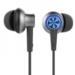 Deluxe Headphone Stereo Headphone microphone line iPhone 3.5mm microphone in ear headphones Blue