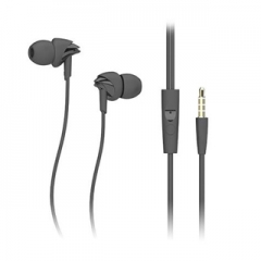 Stereo headphones with mic headset in ear headphones for iphone in the 3.5mm samsung with microphone Black