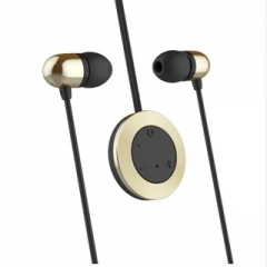 Bluetooth headset Bluetooth headset stereo music Mo micro microphone iPhone Galaxy Android Gold