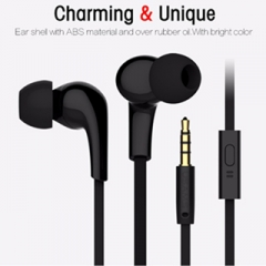 1.2 m in - ear headphones with microphone for mobile phone waterproof mp3 mp4 Black