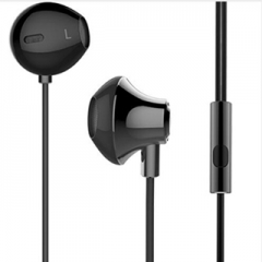 3.5mm in ear stereo listener with  stereo headphones earphones have 1.2 m for iphone ipad samsung Black