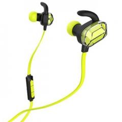wireless bluetooth headset stereo ear phone headset earpiece 4.0 sport for iphone samsung Green
