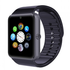Smart Watch GT08 Phone Clock with Sim Card Slot Push Message Bluetooth WristWatch for Infinix /Cubot Black