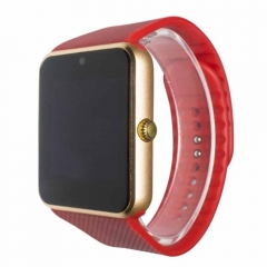 Smart Watch GT08 Phone Clock with Sim Card Slot Push Message Bluetooth WristWatch for Infinix /Cubot Red