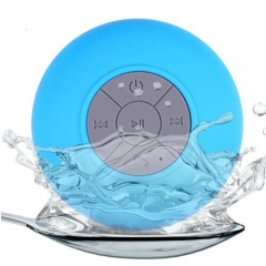 Bluetooth wireless speaker hands-free car phone microphone portable shower sealed subwoofer Blue One size
