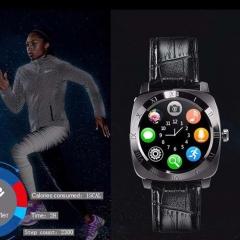 Smartwatch X3 Smart Watch Bluetooth Camera SIM Watch Phone Pedometer Clock Wristwatch black