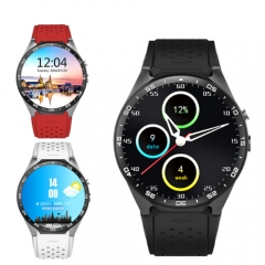 KW88 Smart Watch Smart Clock Smartwach Android Smart Health Heart Rate Monitor Gsm Watch Android black
