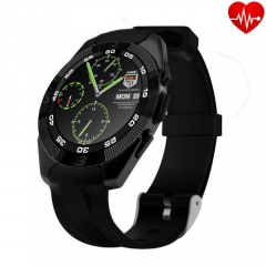Smart Watch G5 Heart Rate Monitor Fitness Tracker Call SMS Reminder Remote Camera for Android iOS black
