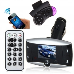 With 2 Remotes-Wireless Bluetooth FM Transmitter Modulator Car Kit ,MP3 Player SD USB LCD black universal