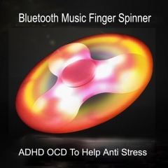 LED Bluetooth Speaker Music Fidget Spinner blue mini