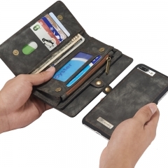 For Samsung / Iphone-High Quality Origional Leather Wallet Phone Cover black samsung s8
