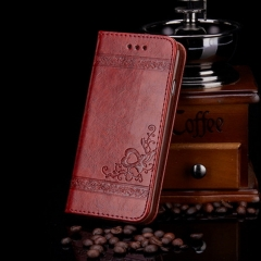 PU Leather Phone Case-Wallet Phone Cover For Samsung/Iphone brown samsung s6