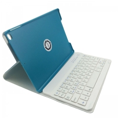 Bluetooth Wireless Keyboard with Leather Case Smart Cover for iPad( Blue)