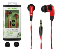 In Ear Earphone Earbuds for iPhone / Huawei / INFINIX / Other Mobile Phone Headset black&red red