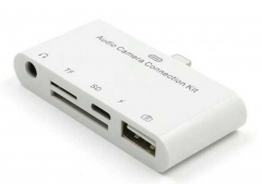 for Apple Phone Reader IPhone567 OTG Line Charging Audio Multi-function white square 64G 64G