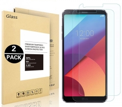 LG G6 Tempered Glass Screen Protector, Vigeer [ 2 Pack ] [0.3mm, 2.5D] [9H Hardness][HD Clear]