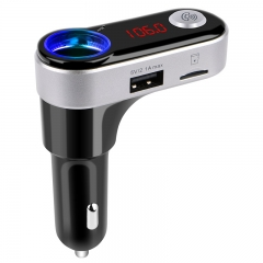 Bluetooth FM Transmitter& USB Car Charger Wireless Car Kit with  Audio Port for Mobile Phone black bc09b
