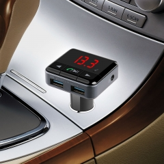 New Arrival BC12B Bluetooth FM Transmitter USB Car Charger for iPhone iPad Black BC12B