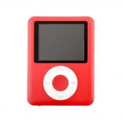 Factory Price USB Digital MP3 MP4 Player Slim 8GB 1.8 inch LCD Media Video Game Movie Radio red