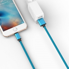 Blue Micro USB Cable Fast Charging Mobile Phone Cables Data Sync USB Charger Cable  Android