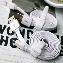 Data Cable 100CM Flat noodles Micro Usb Charge Charger Cable For Mobile Phones