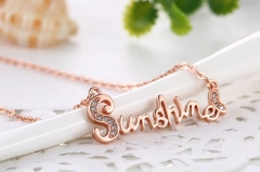 Sunshine Necklace Birthday Gift Rose gold Necklace Rose gold 38cm+5cm​