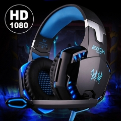 Noise Cancelling Gaming Headset / Over Ear  Headband with Mic Stereo Bass LED Light