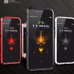 Original Luphie Metal Bumper Luxury Aviation aluminum CNC Frame Cover Case For iPhone7 Plus 7Plus black iphone 7