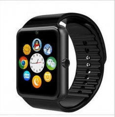 Intelligent Watch Fashion Take Pictures Step Positioning Health Monitor Bluetooth Call Wristband black