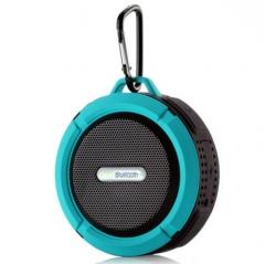 Waterproof Outdoor Movement Wireless Bluetooth Speaker Portable Bathroom Sucker Card Small Sound blue one size