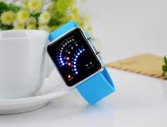 Sector LED Watch Silica Gel trend Fashion Digital Watch Student Watch Couple Led electronic Watch black
