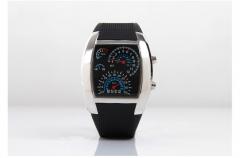 Fashion Dash Board Led flight Table Creative Sports Car dial digital Watch Personality Sector Watch black