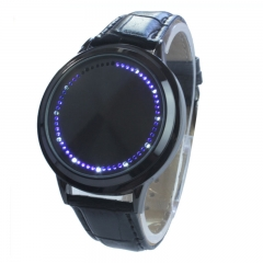 Creative Touch digital Tatch Fashion Touch Screen Led Watch Trend Couple Wrist Watch black