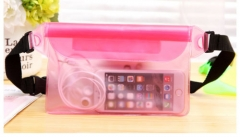 Mobile Phone Waterproof Waist Bag Sport Swimming Beach Pouch Dry Case Fanny Pack Pocket Blue General Pink One size