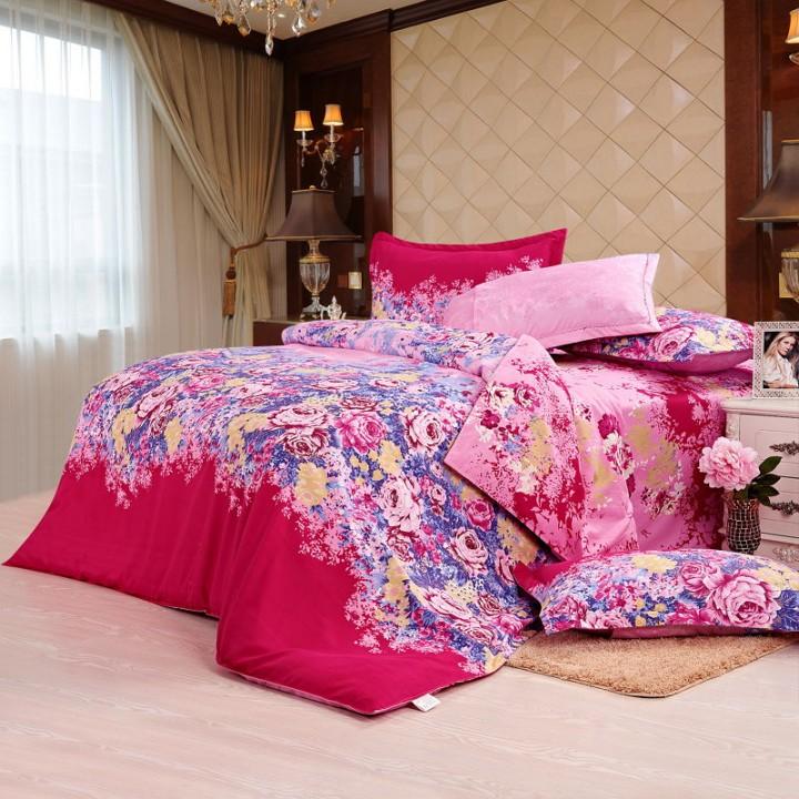 Four piece Long-staple cotton multicolored duvet cover sets Multicolor 5*6