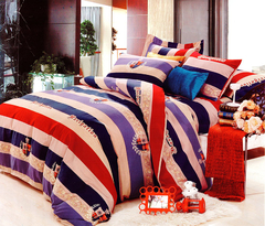 4Pcs Bedding Sets High quality thick 100% cotton (1 Duvet cover+1 Bed sheet+2 Pillow covers) Multicolor 5*6