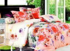 Four piece High quality thick 100%c Duvet Cover Multicolor 5*6