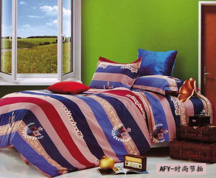Four piece Long staple cotton duvet cover sets Multicolor Multicolor 5*6