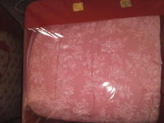 pink duvet with starling white flowers xh4608 double color 4*6