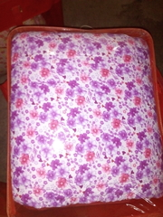 white duvet with pink and purple flowers xh4609 Multicolor 4*6
