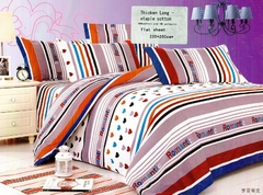 One piece multicolor flat sheet (Thicken Long Staple cotton) Multicolor 6*6