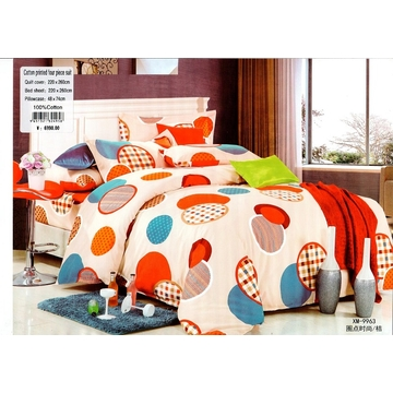 Four piece High quality thick 100% cotton duvet cover sets Multicolor 6*6
