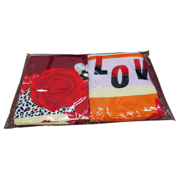 Four piece Multicolored velvet bedding set Multicolor 5*6