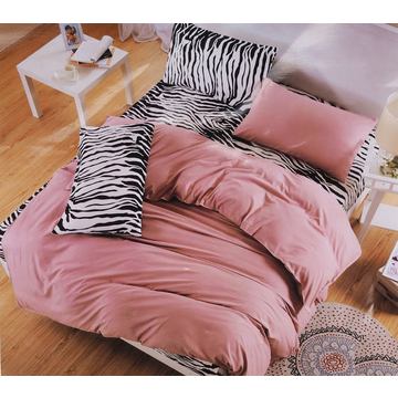 Four Piece High Quality Zebra Print Cotton Duvet Cover Sets Multicolor 6*6