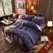 4Pcs Bedding Set(1 Duvet cover+1 Bed sheet+2 Pillow covers) Fashion Button Double Pure Color Cotton double color 5*6