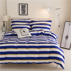 4Pcs Bedding Set (1 Duvet cover+1 Bed sheet+2 Pillow covers)  Aloe Cotton Flexibility Zipper Design color as picture 6*6