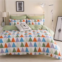 4Pcs Bedding Set  (1 Duvet cover+1 Bed sheet+2 Pillow covers) Aloe Cotton Flexibility Zipper Design color as picture 5*6